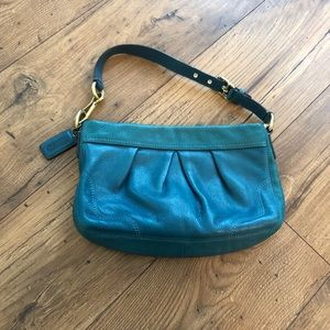 Coach Soft Pebbled Leather Teal Purse